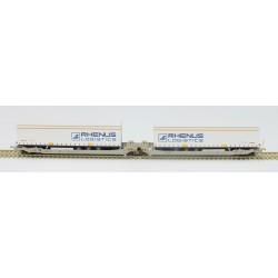 Twin car AAE Cargo DB Schenker Rail AG + 2x SR EKOL