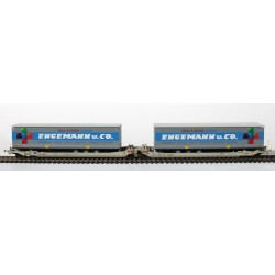 Twin car AAE Cargo TX Logistik AG + 2x SR ENGEMANN + C°