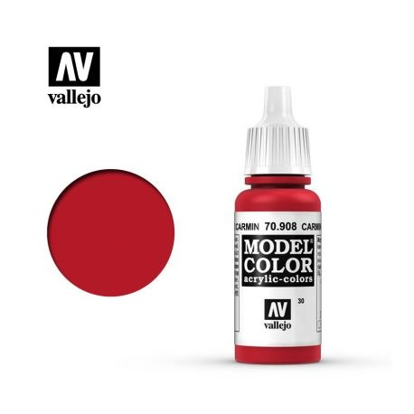 VAL70908 Vallejo Carmine Red 17ml
