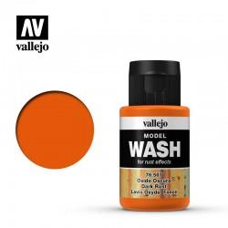 VAL76507 Vallejo Model wash dark rust 35ml