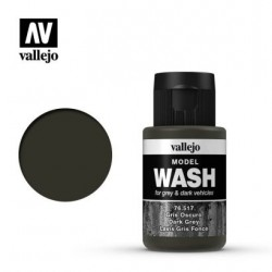 VAL76517 Vallejo Model wash dark grey 35ml