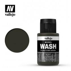 VAL76517 Vallejo Model wash dark grey 35ml