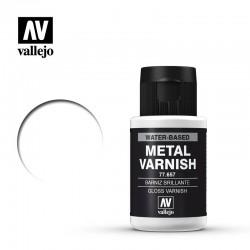 VAL77657 Vallejo Gloss metal varnish 32ml