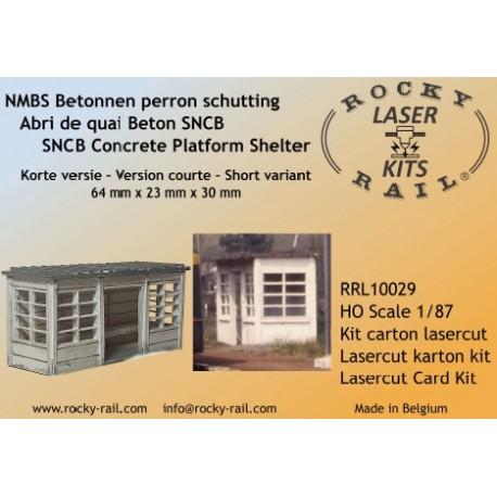Abri de quai SNCB beton court (1 entrée) 64 x 23 x 30 mm