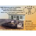 Medium size SNCB concrete railway platform shelter106 mm x 23 mm x 30mm