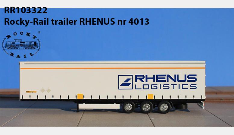 RR103322: Rocky-Rail trailer RHENUS nr 4013