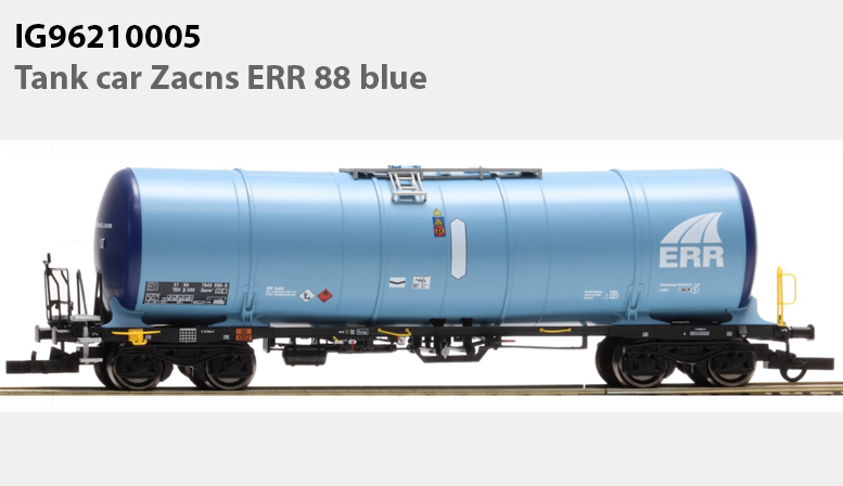 IG96210005: Tank car Zacns ERR 88 blue